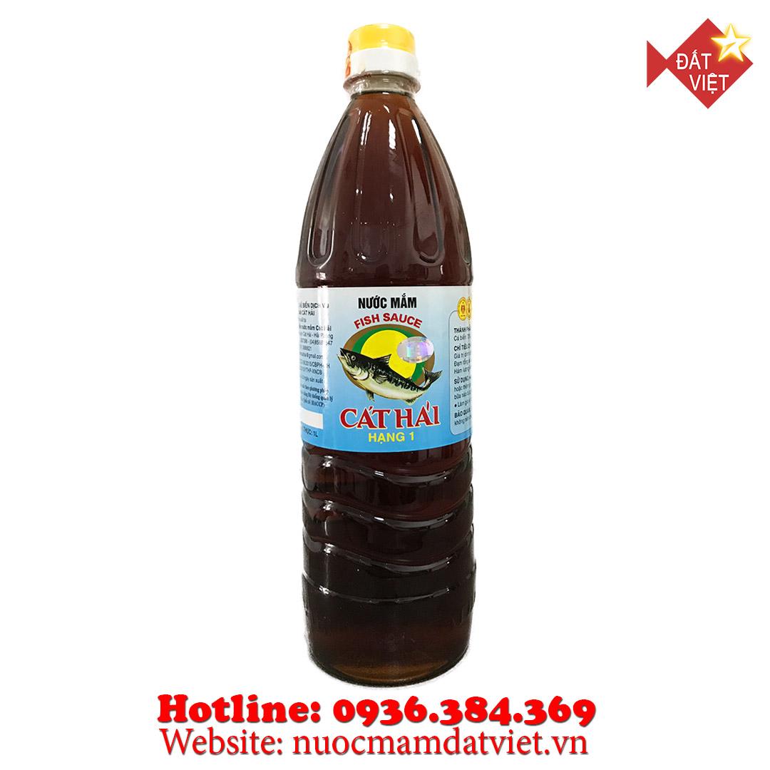 Nước mắm Cát Hải hạng 1 1lit (thùng 12 chai)